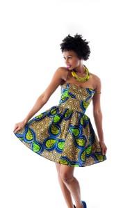 Simply Cecily Blue Amina dress